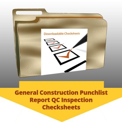 General Construction Punchlist Report QC Inspection Checksheets