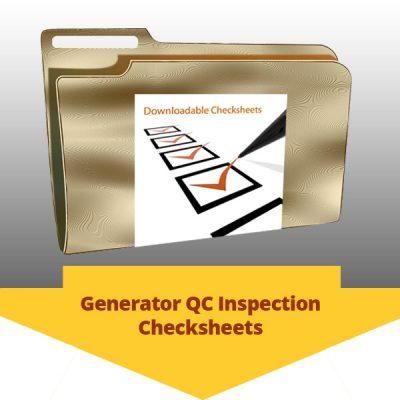Generator QC Inspection Checksheets