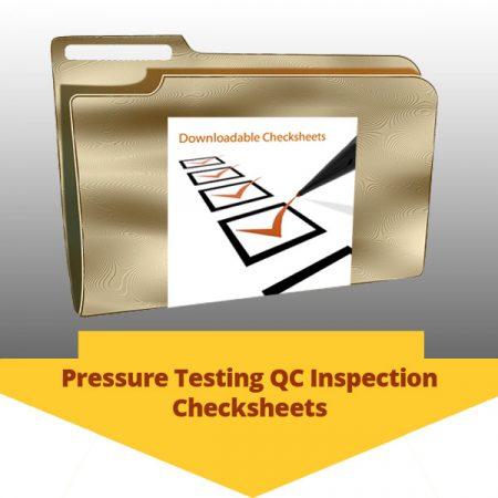 Pressure Testing QC Inspection Checksheets