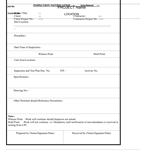 QA-008 - Inspection Notification Sheet