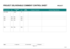 QA-09 - Comment Control Sheets