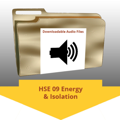 HSE-09 Energy and isolation